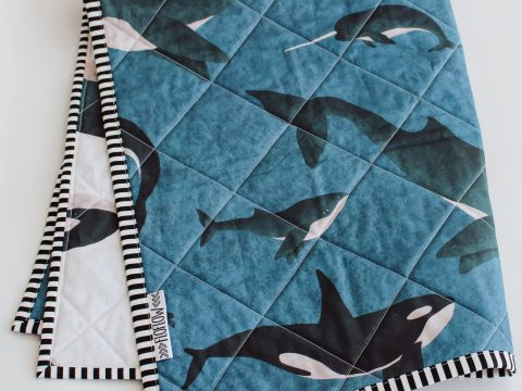 sealife wholecloth quilt FloFlow